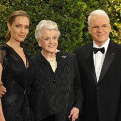 Angelina Jolie, Angela Lansbury y Steven Martin en la ceremonia de entrega de los Governors Awards 2013
