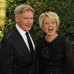 Emma Thompson y Harrison Ford en la ceremonia de entrega de los Governors Awards 2013