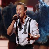 Sam Callahan cantando en 'The X Factor'