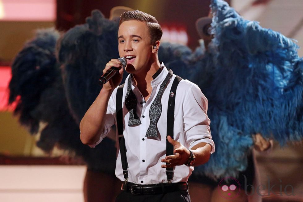 Sam Callahan cantando en 'The X Factor'