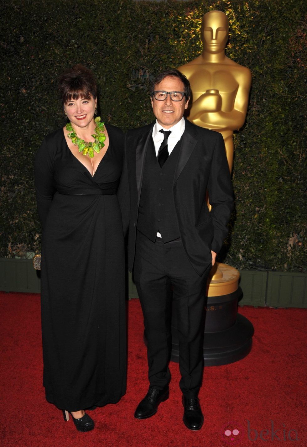 Janet Grillo y David O. Russell en la ceremonia de entrega de los Governors Awards 2013