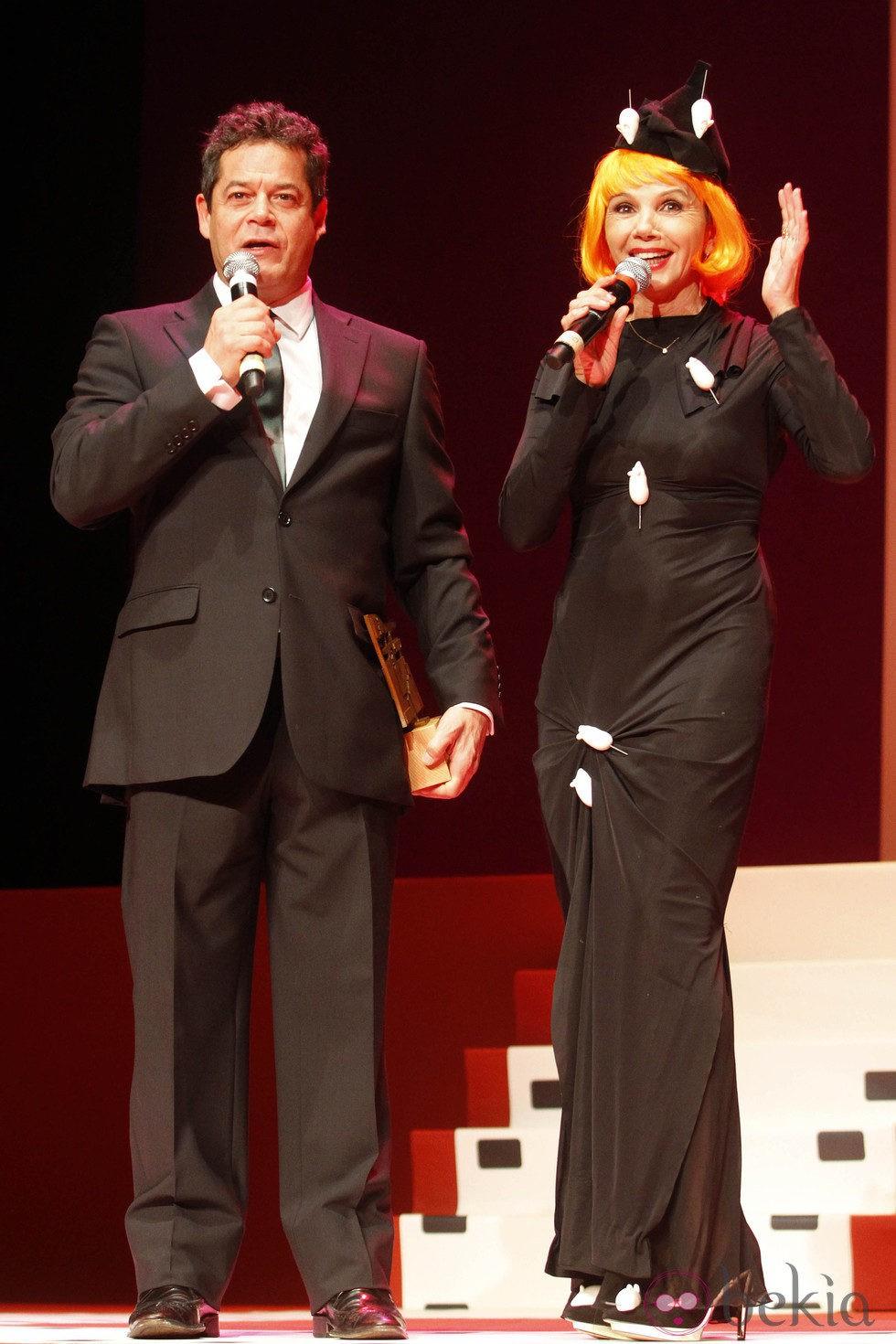 Jorge Sanz y Victoria Abril en la inauguración del Festival de Cine de Gijón