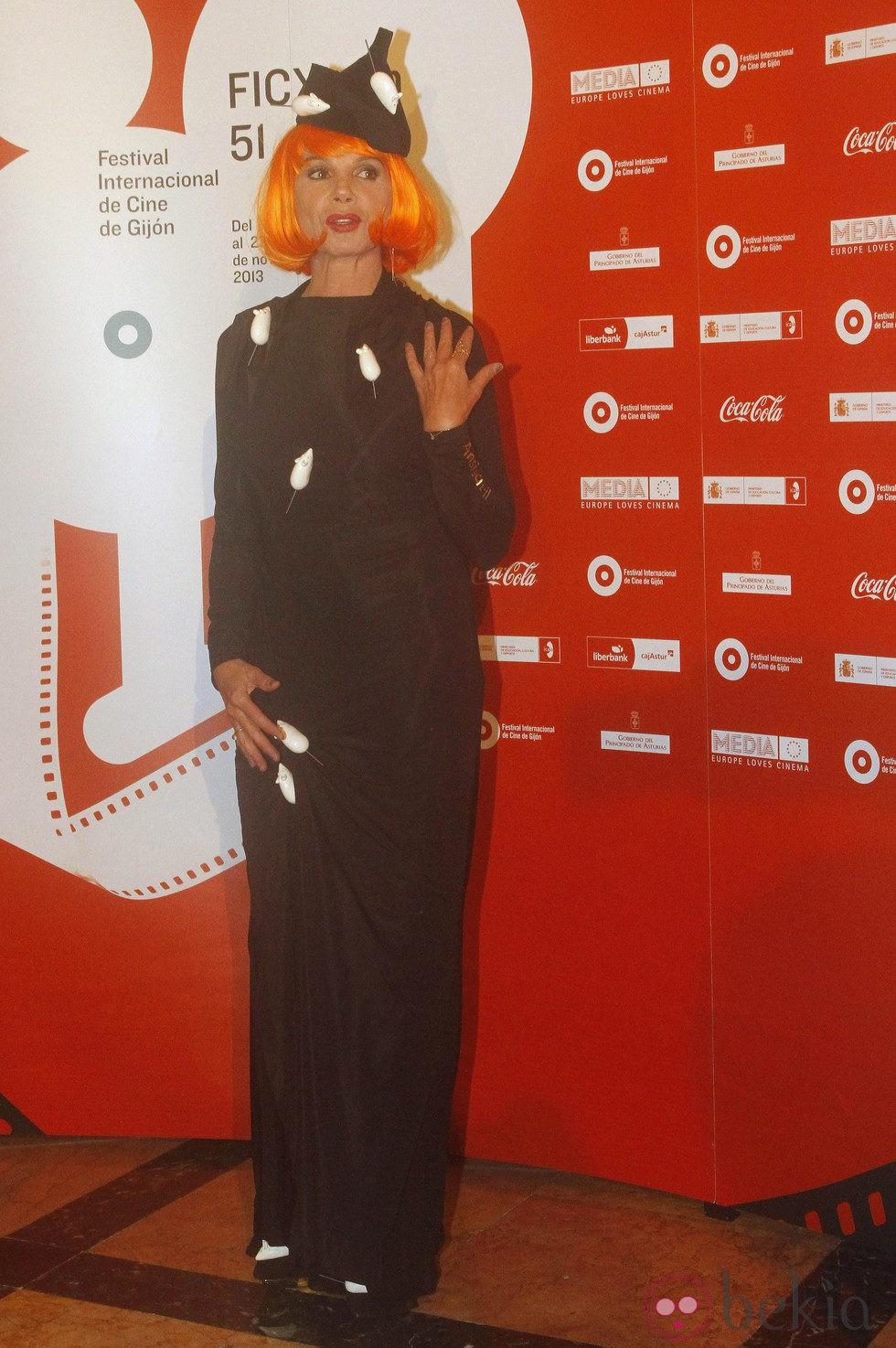 Victoria Abril en la inauguración del Festival de Cine de Gijón 2013