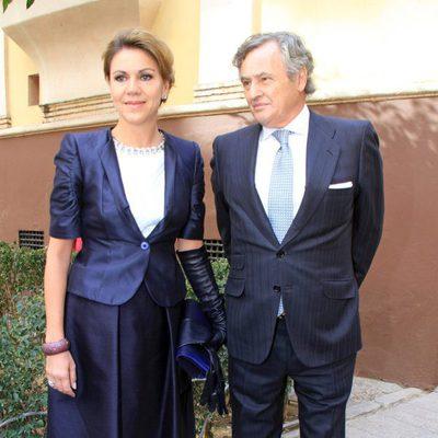 María Dolores de Cospedal e Ignacio López del Hierro en la boda de Juan Ignacio Zoido y Arantxa Díaz Ordóñez