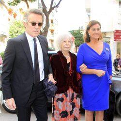 Los Duques de Alba y Carmen Tello en la boda de Juan Ignacio Zoido y Arantxa Díaz Ordóñez