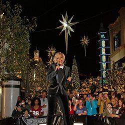 Mary J. Blige en el encendido de luces de Navidad de Los Angeles