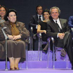 Montserrat Caballé y José Coronado en los Premios Cultura de la Comunidad de Madrid 2013