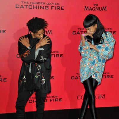 Jaden y Willow Smith en el estreno de 'Los Juegos del Hambre: En llamas' en Los Angeles