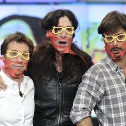 Pablo Motos, Mario Vaquerizo y Hugo Silva en 'El Hormiguero'