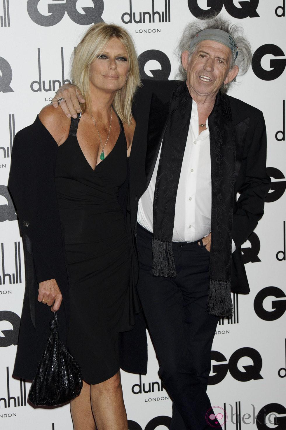 Keith Richards y Patti Hansen en los Premios GQ 'Hombres del Año' 2011