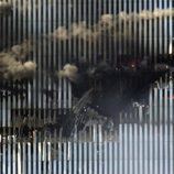 11-S: Agujero provocado por el avión que chocó contra la Torre Norte del World Trade Center