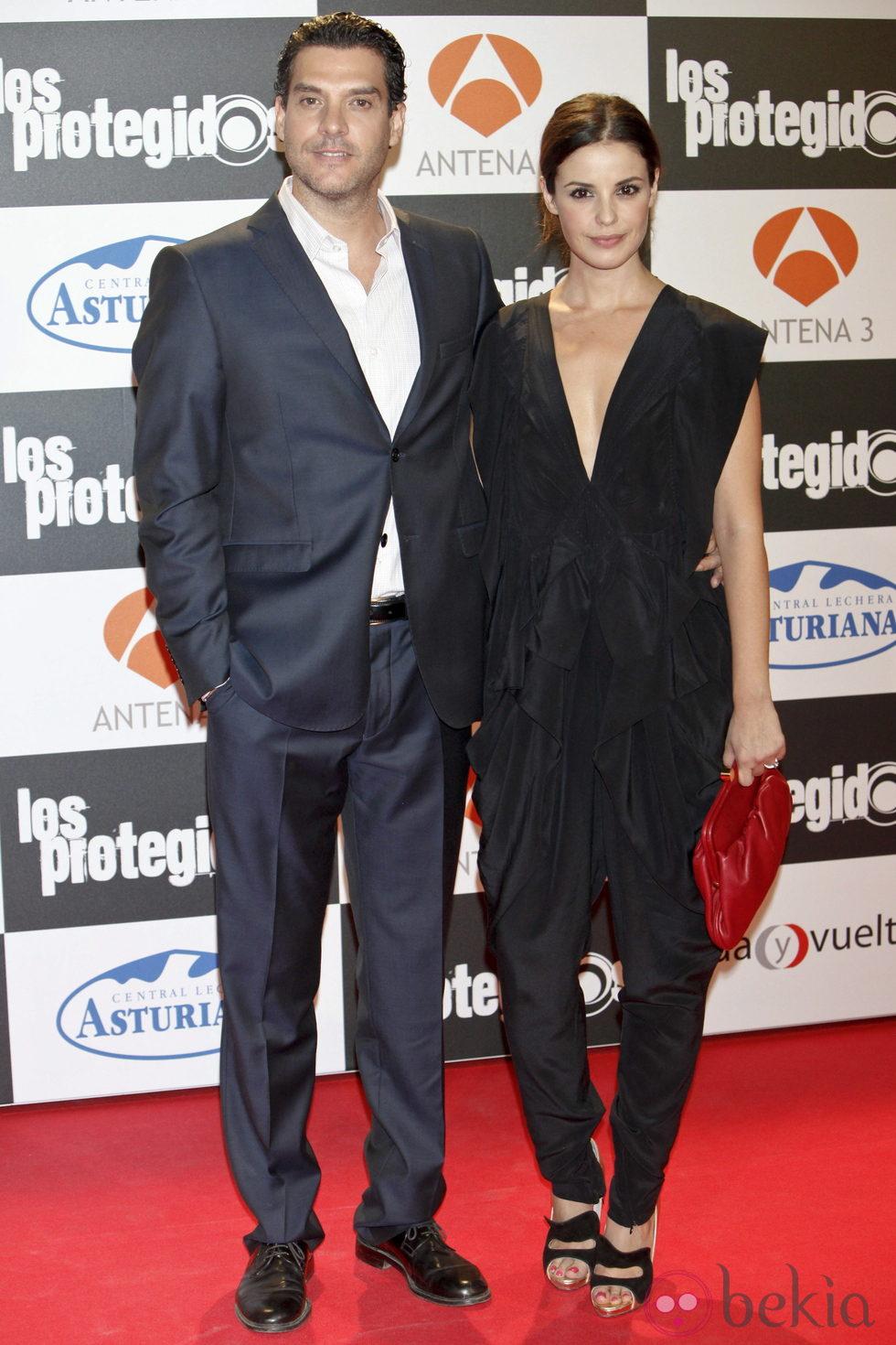 Javier Mora y Marta Torné en el estreno de la tercera temporada de 'Los Protegidos'