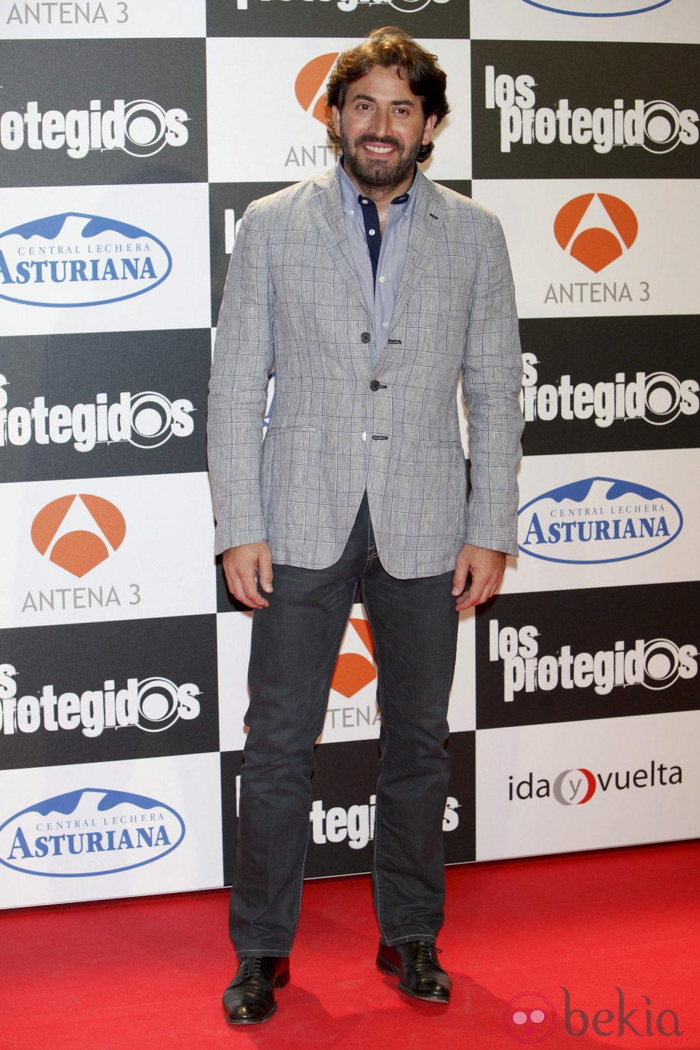 Antonio Garrido en el estreno de la tercera temporada de 'Los Protegidos'