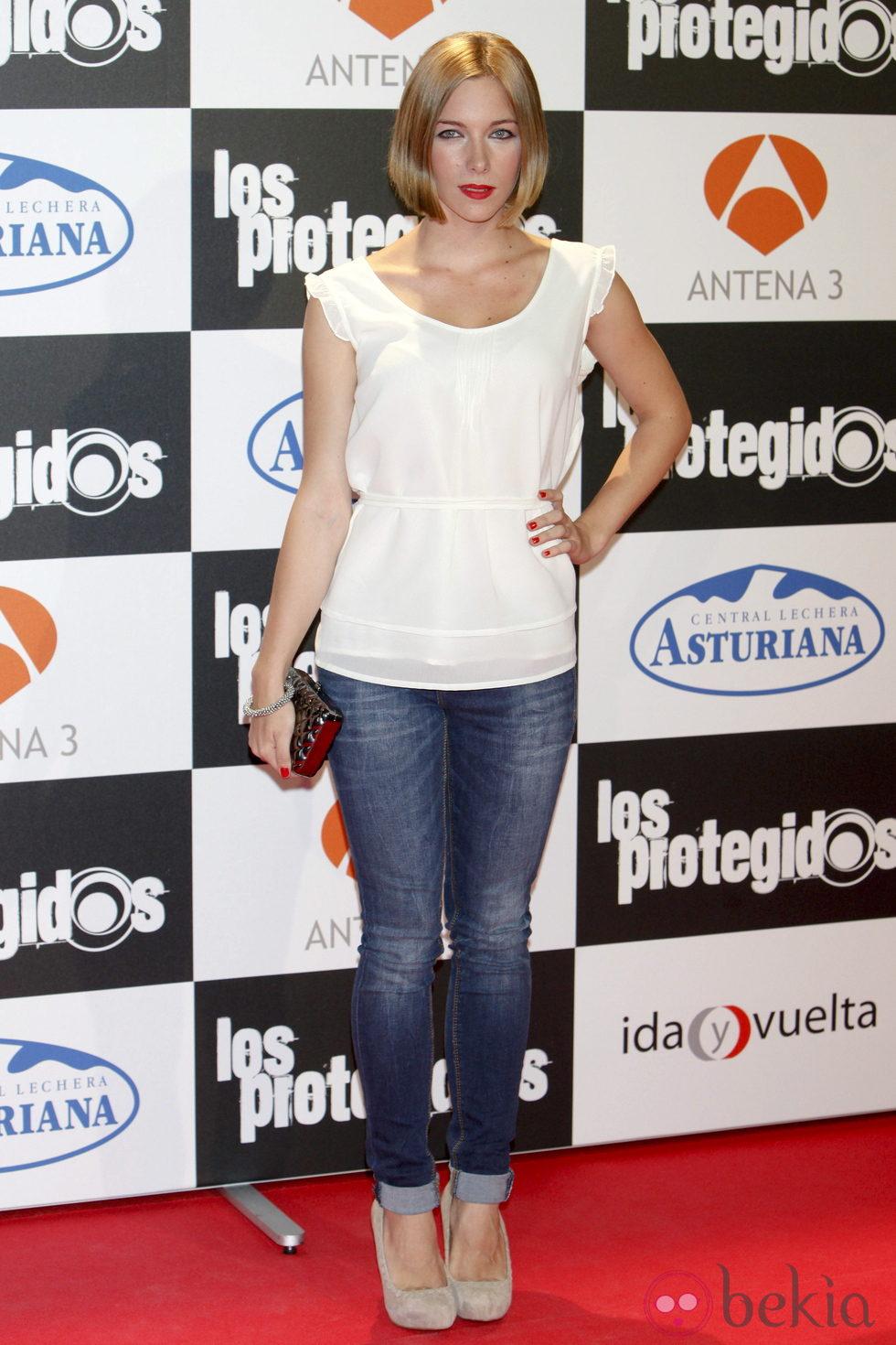 Natalia Rodríguez en el estreno de la tercera temporada de 'Los Protegidos'