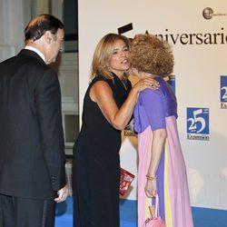 Ana Botella y Pedro J. Ramírez en la cena del 25 aniversario de 'Expansión'