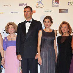 Los Príncipes de Asturias y Elena Salgado en la cena del 25 aniversario de 'Expansión'