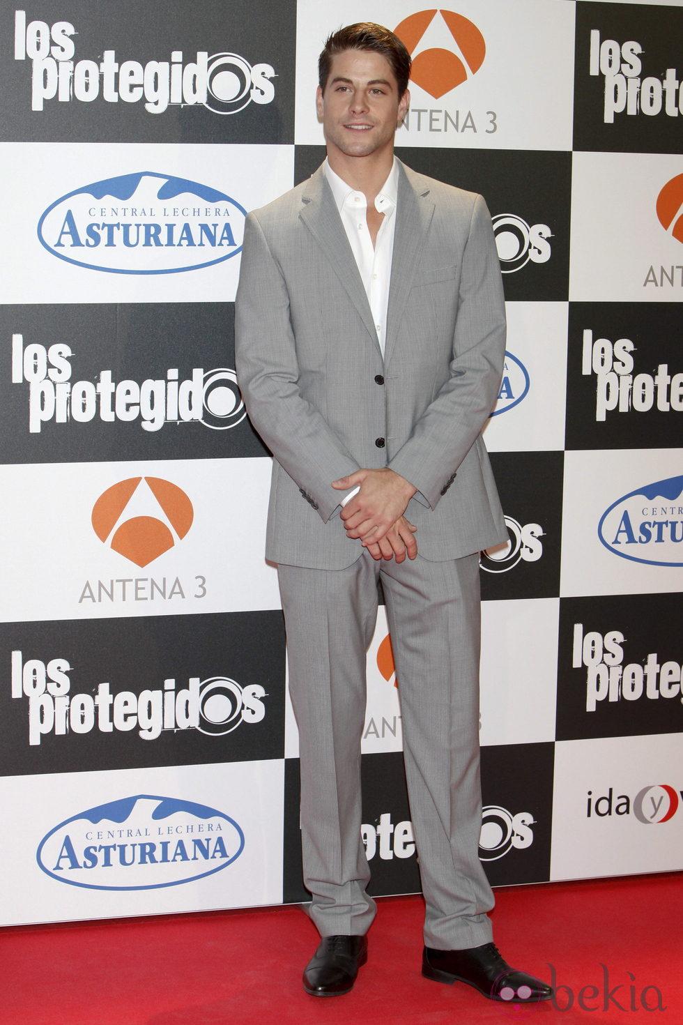 Luis Fernández en el estreno de la tercera temporada de 'Los Protegidos'