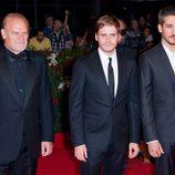 Lluís Homar, Daniel Brühl y Alberto Ammann en el estreno de 'Eva' en la Mostra de Venecia