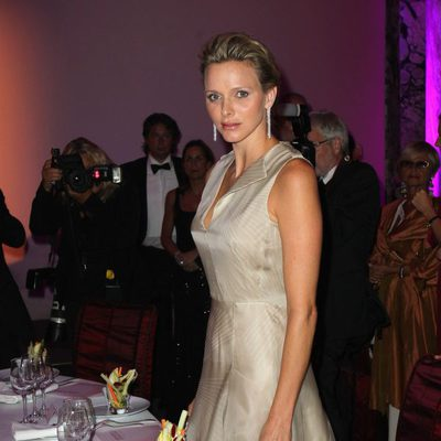 La Princesa Charlene en la gala Montblanc celebrada en Mónaco