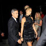 George Clooney y su novia Stacy Keibler en el Festival de Cine de Toronto