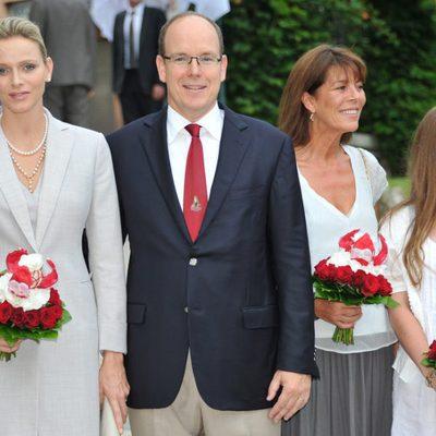Los Príncipes Alberto y Charlene en el tradicional picnic de Mónaco