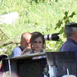 Penélope Cruz, muy concentrada en el set de rodaje de 'Venuto Al Mondo'