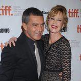 Antonio Banderas y Melanie Griffith a su llegada al Festival de Cine de Toronto