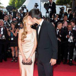 Djokovic y su novia Jelena Ristic en el Festival de Cannes