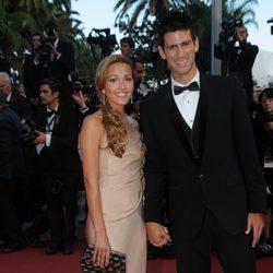 Djokovic y su novia Jelena Ristic derrochan glamour en el Festival de Cannes