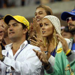 Jelena Ristic apoya a su novio Djokovic en el US Open