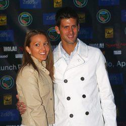 Jelena Ristic, fan incondicional de su novio Djokovic
