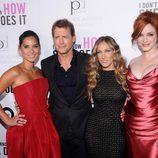Olivia Munn, Greg Kinnear, Sarah Jessica Parker y Christina Hendricks en el estreno de 'Tentación en Manhattan' en Nueva York
