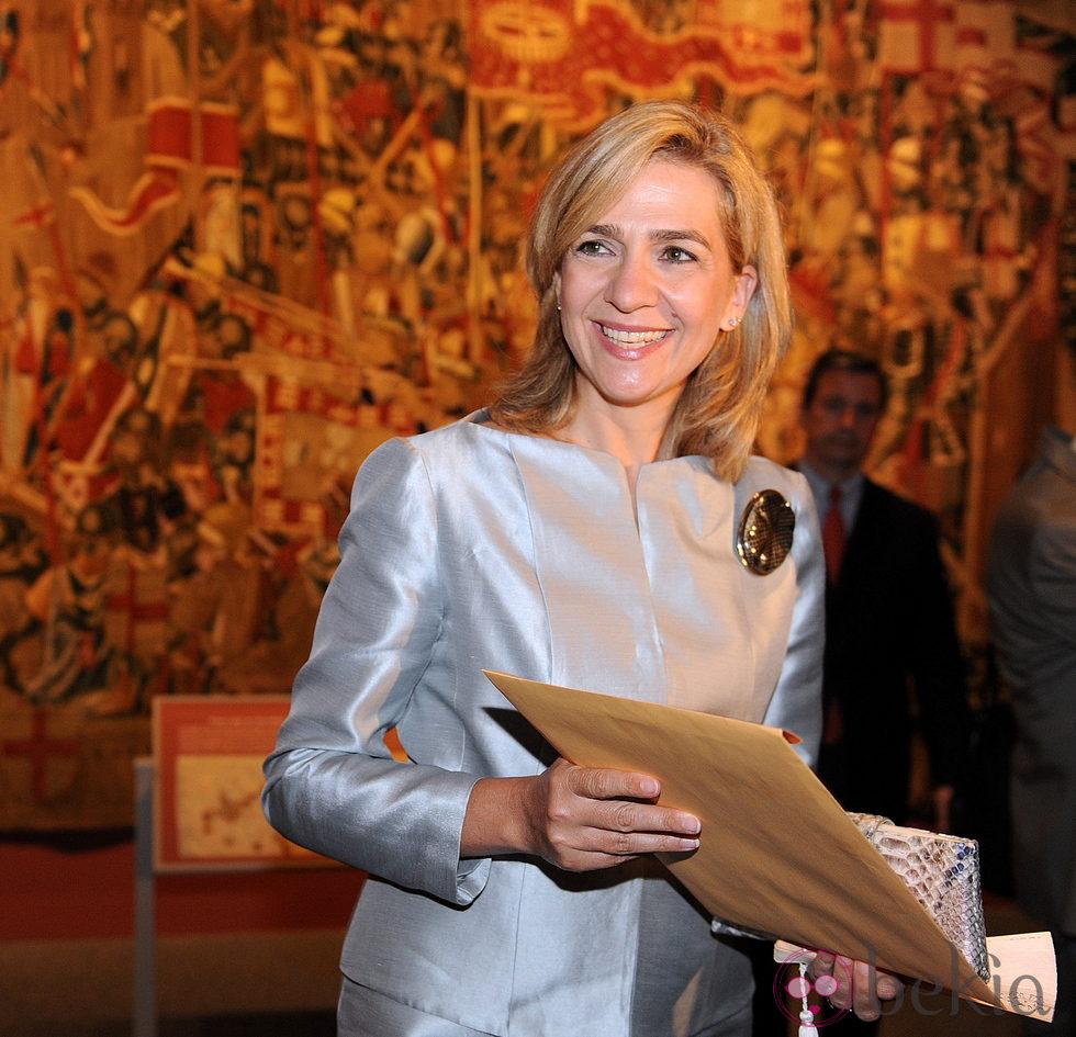 La Infanta Cristina inaugura una exposición de tapices de Pastrana en Washington
