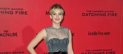 Jennifer Lawrence en el estreno de 'Los Juegos del Hambre: En llamas' en Los Angeles