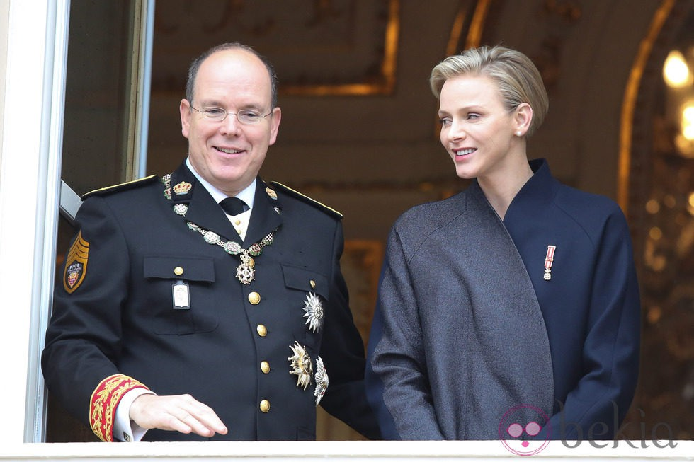 Los Príncipes Alberto y Charlene en el Día Nacional de Mónaco 2013