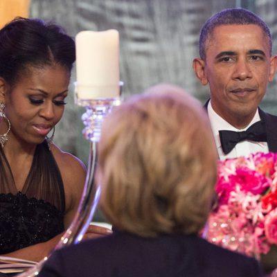 Barack Obama y Michelle Obama en la cena en honor a los galardonados con las Medallas de la Libertad
