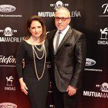 Gloria y Emilio Estefan en la entrega de los Premios Ondas 2013