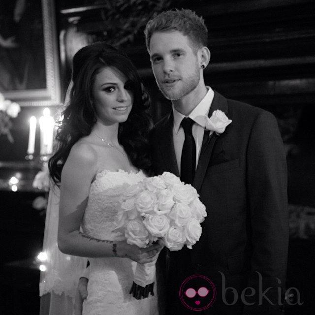 Cher Lloyd y Craig Monk el día de su boda