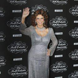 Sofía Loren en la presentación del Calendario Pirelli 2014