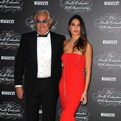 Elisabetta Gregoraci y Flavio Briatore en la presentación del Calendario Pirelli 2014