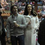 Tamara Ecclestone y Jay Rutland en 'Winter Wonderland'