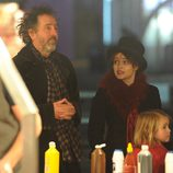 Tim Burton y Helena Bonham Carter en 'Winter Wonderland'