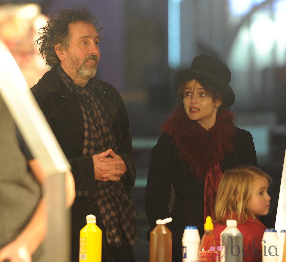 Tim Burton y Helena Bonham Carter en 'Winter Wonderland'
