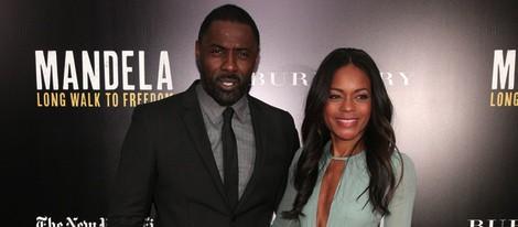 Idris Elba y Naomie Harris en la proyección de 'Nelson Mandela, del mito al hombre' en Nueva York