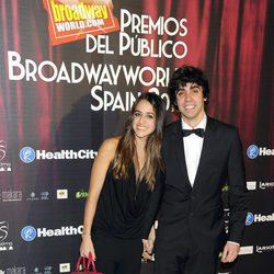 Macarena García y Javier Ambrossi en los Premios Público Broadway Spain 2013