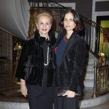 Carolina Herrera y Carolina Adriana Herrera en la presentación del libro '100% Naty'