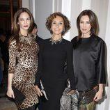Eugenia Silva, Naty Abascal y Nieves Álvarez en la presentación del libro '100% Naty'