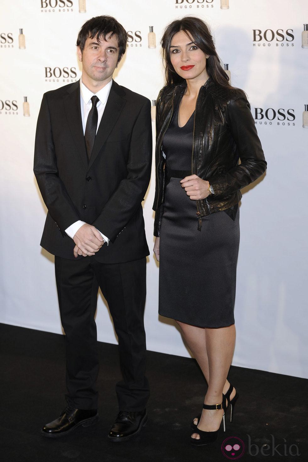 Marta Fernández y Eduardo Chapero-Jackson en el 15 aniversario de 'Boss Bottle' en Madrid
