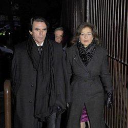José María Aznar y Ana Botella en el funeral de Irene Vázquez