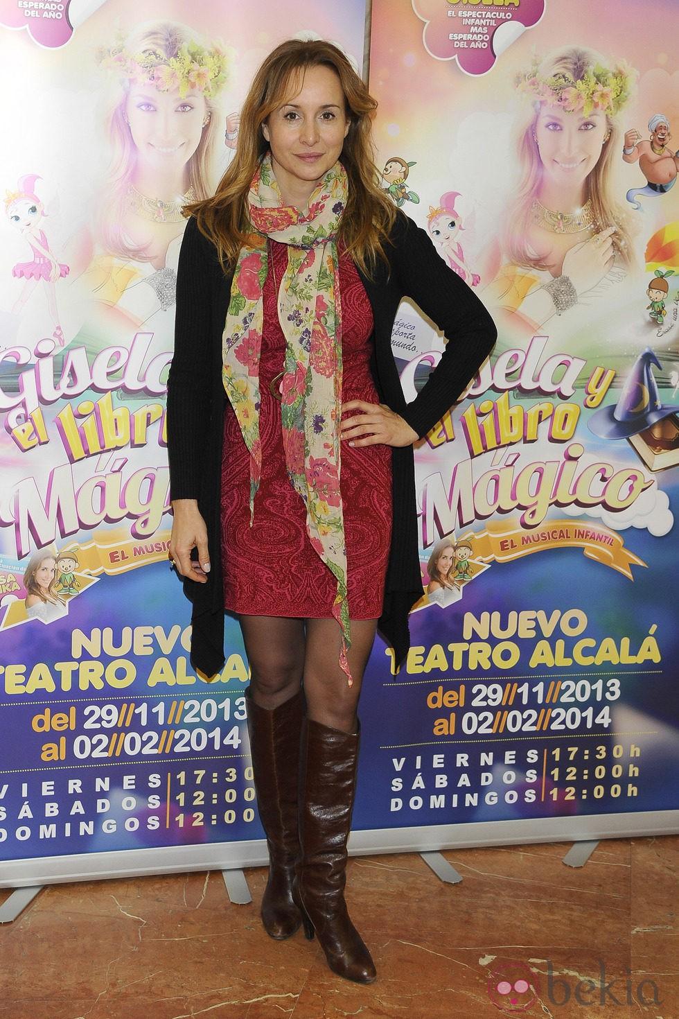 Mar Regueras en el estreno del musical 'Gisela y el cuento mágico'